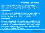 preliminary conclusions1