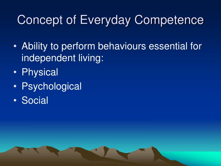 Concept of Everyday Competence