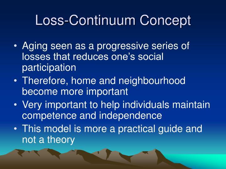 Loss-Continuum Concept