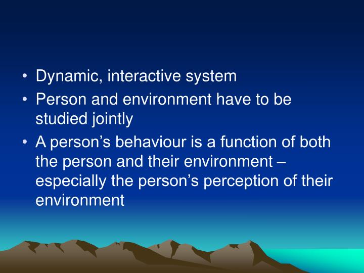 Dynamic, interactive system