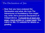 the declaration of jim1