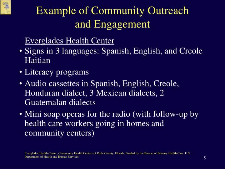 Example of Community Outreach