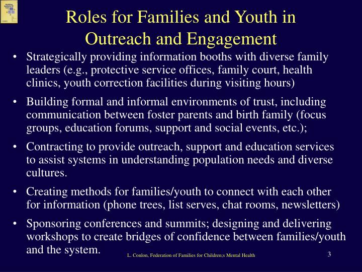 Roles for Families and Youth in