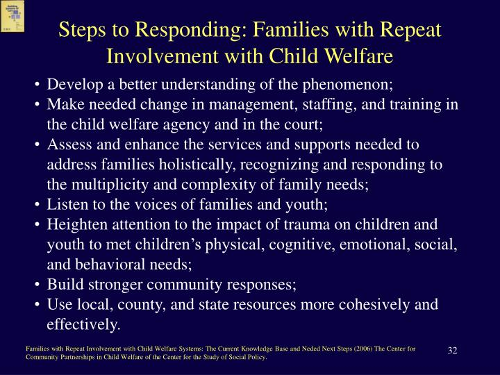 Steps to Responding: Families with Repeat Involvement with Child Welfare