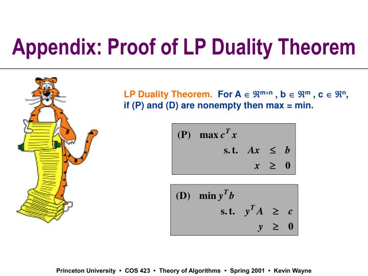 Appendix: Proof of LP Duality Theorem