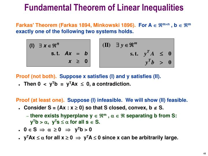 Fundamental Theorem of Linear Inequalities
