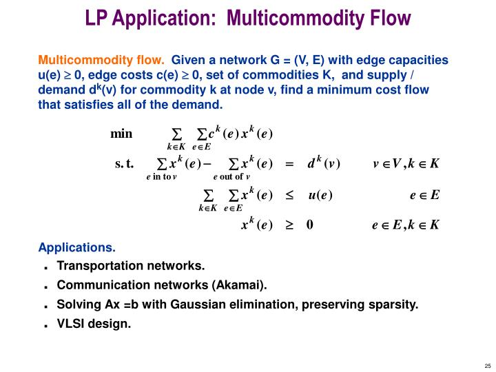 LP Application:  Multicommodity Flow