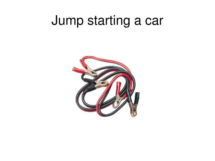 Jump starting a car