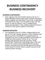 business contingency business recovery
