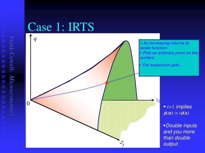 Case 1: IRTS