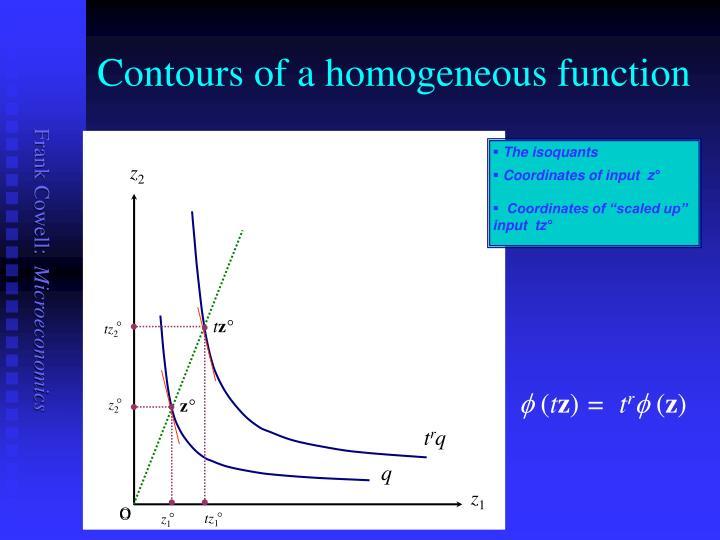 Contours of a homogeneous function