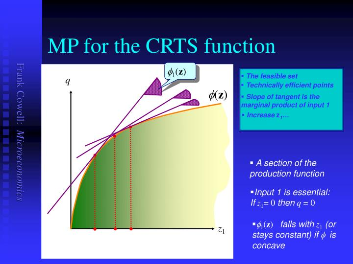 MP for the CRTS function