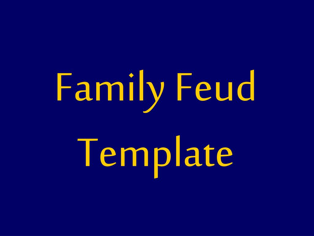 Family Feud Template Ppt | Ppt Family Feud Template Powerpoint Presentation Id 1289215