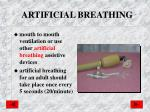 artificial breathing
