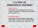 causes of abdominal injuries