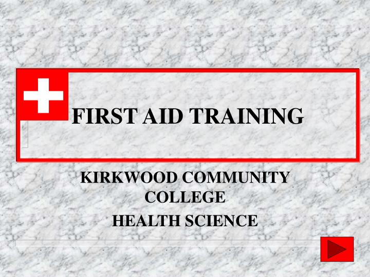 first aid training n.