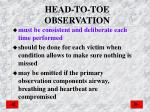 head to toe observation
