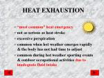heat exhaustion