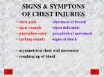 signs symptons of chest injuries