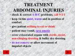 treatment abdominal injuries