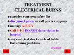 treatment electrical burns