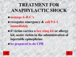 treatment for anaphylactic shock