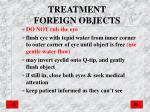 treatment foreign objects