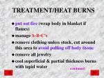 treatment heat burns