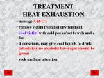 treatment heat exhaustion