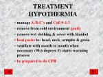 treatment hypothermia