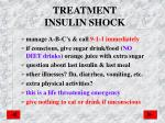 treatment insulin shock