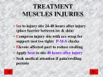 treatment muscles injuries