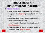 treatment of open wound injuries
