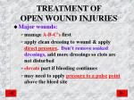 treatment of open wound injuries1
