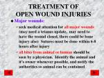 treatment of open wound injuries2