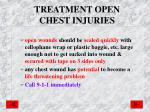 treatment open chest injuries