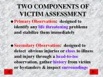 two components of victim assessment