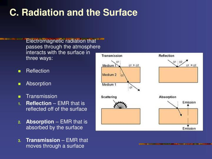 C. Radiation and the Surface