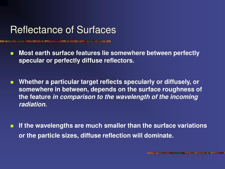 Reflectance of Surfaces