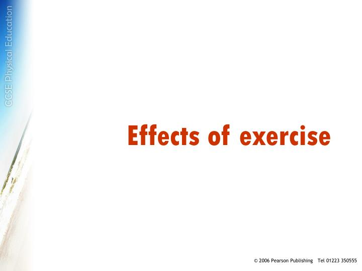 effects of exercise n.