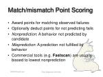 match mismatch point scoring