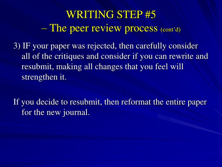 writing and peer review paper