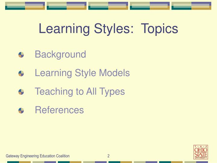 Learning styles topics