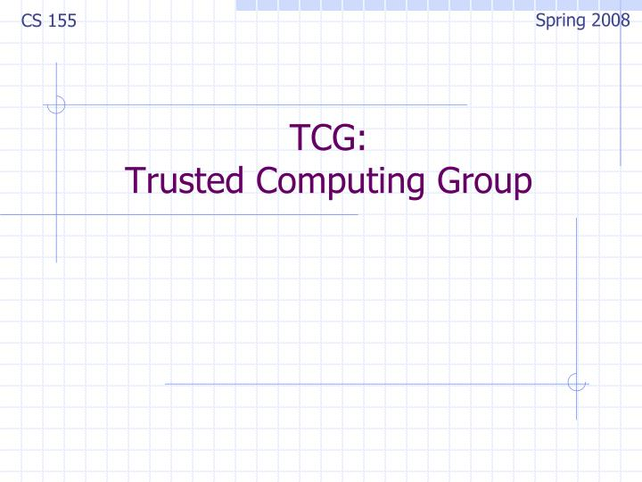 tcg trusted computing group n.