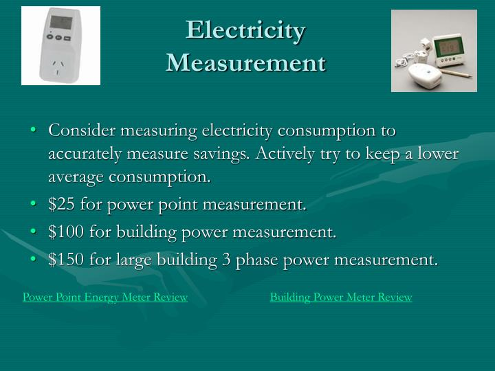 Electricity Measurement