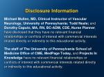 disclosure information1