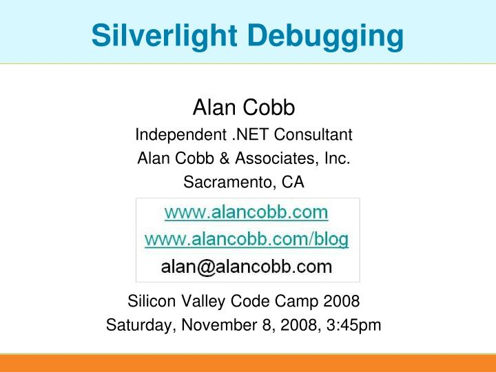 silverlight debugging n.