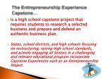 the entrepreneurship experience capstone