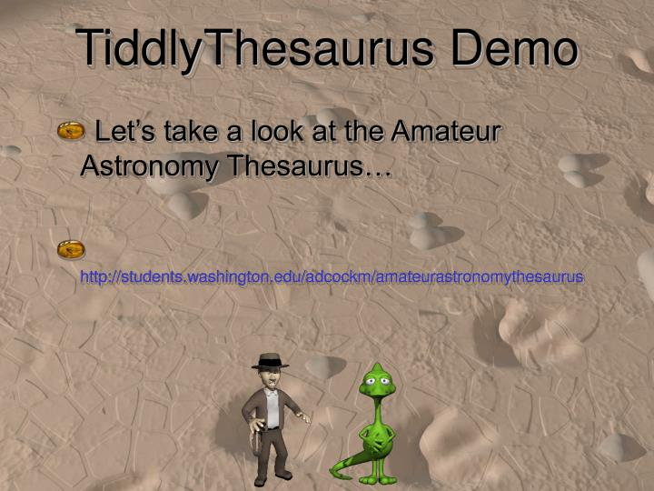 TiddlyThesaurus Demo