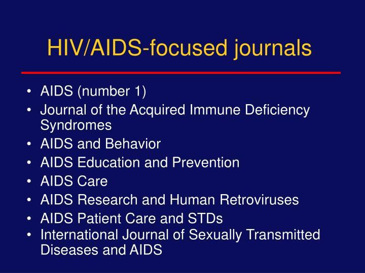HIV/AIDS-focused journals